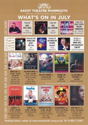 Savoy Theatre Whats On – July 2018