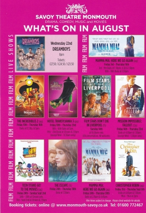 Savoy Theatre Whats On – August 2018