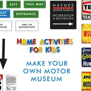 Home Activities for Kids – Haynes Motor Museum