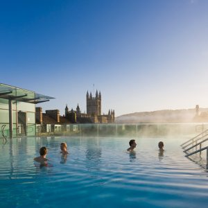 Relax at Thermae Bath Spa, Bath. Re-opens 12 April.